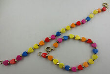 LOT OF 12 HEARTS PLASTIC BEAD BRACELETS Some Need Work L-19
