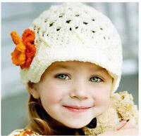 Baby Infant Girl Toddler Cute Handmade Flower Knit Crochet Kids Beanie Hat Cap
