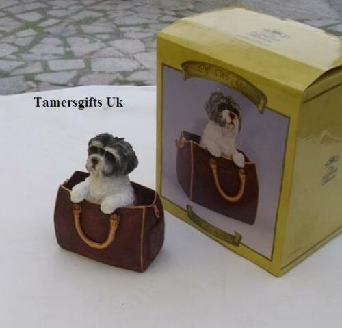 Leonardo Shih Tzu Dog In Travel Bag Xmas Gift Bnew