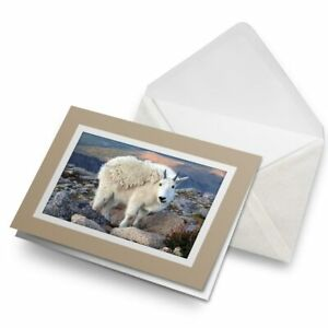Greetings-Card-Biege-Mountain-Goat-Glacier-16568