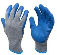 2 Pairs Gloves Large Heavy Duty Cotton Rubber Double Coated Guantes