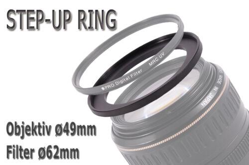 Adattatore Filtro Anello Adattatore Step-Up 49 mm 62 mm 49-62mm