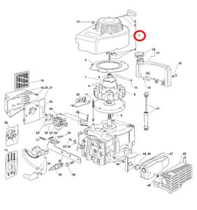 100% Vrai Mountfield Hp454 Recul Assemblage Pour Moteurs V35 Sur 2011-2012 Modèles Genuine-afficher Le Titre D'origine