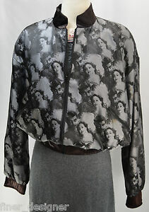 Reversible Jacket Vtg M Gable Movie Joan Strange Crawford Coat Clark Zip Cargo 0wSUz66q