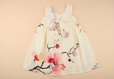 NWT Baby Girls Watercolour Flowers Cotton Dress Skirt Outfit size 1,2,3,4,5,6