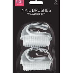 2-x-Clear-Heavy-Duty-Nail-Scrubbing-Cleaning-Retro-Brush-Manicure-Pedicure