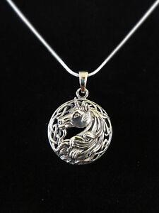 Einhorn-Silver-Unicorn-Anhaenger-Silber-Gothic-Schmuck-NEU