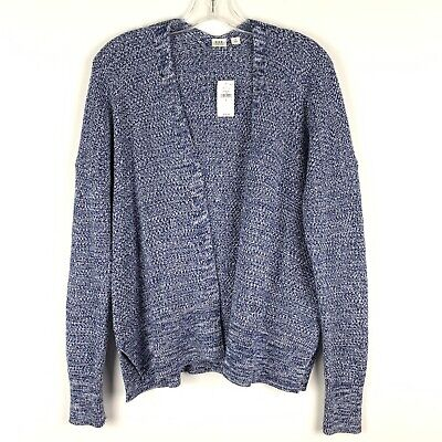 Gap Womens Cardigan Sweater Small Blue White Open Front Long Sleeve Stretch 232 | eBay