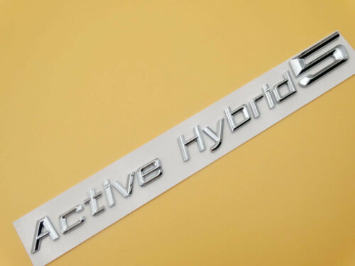 Active Hybrid 5 Emblems Decal Sticker Trunk Lip Number Letter for BMW 5-Series
