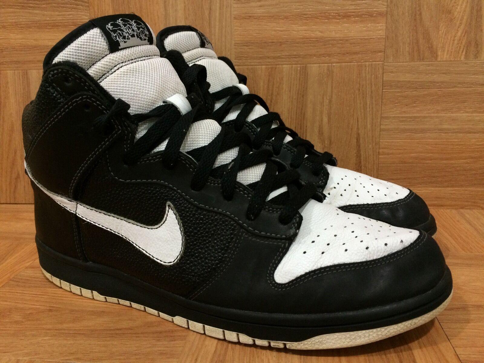 RARE   Nike Dunk Hi Premium Nort Recon Black White Sz 11 314263-012 OG SOLES
