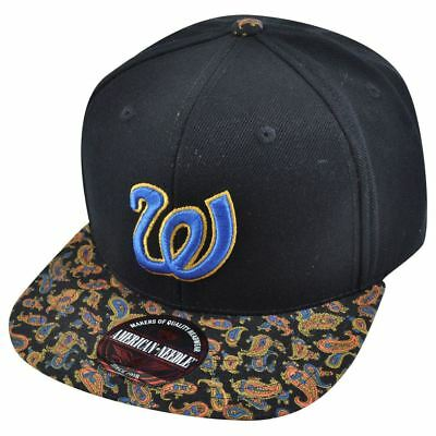 153d2d6b0 MLB American Needle Washington Senators Cooley High Paisley Strapback Hat  Cap 693892090008 | eBay