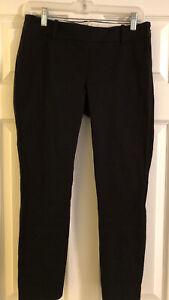 Womens-J-Crew-Size-2-Black-Pants