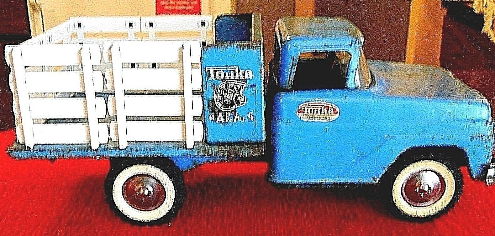 TONKA Farms 1962 lit plat jeu camion.