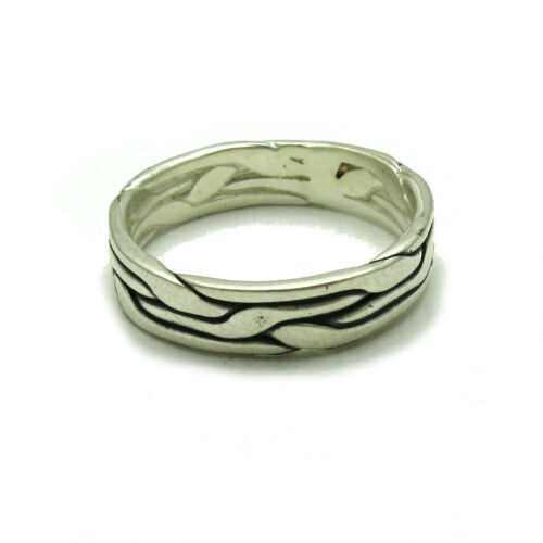 STERLING SILVER RING BAND SOLID 925 5MM WIDE NEW SIZE 3.5-14