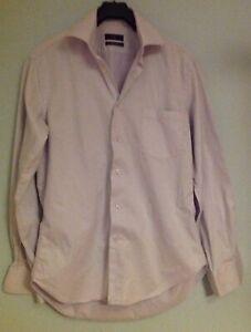 Mens-Zara-Slim-Fit-Pale-Blue-Shirt-Size-XL-Good-Condition-EUR-40-USA-15