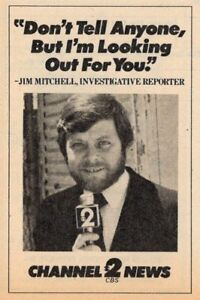 Details about 1980 TV AD~JIM MITCHELL INVESTGATIVE REPORTER~KNXT LOS  ANGELES~CBS~NEWS PROMO