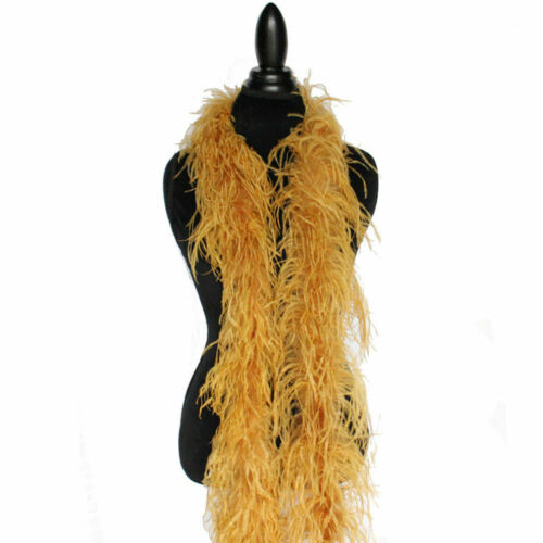 2 Ply OSTRICH FEATHER BOA TOPAZ 2 Yards; Costumes//Hats//Craft//Bridal//Dress