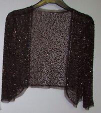 Taglia 12 Donna Paillettes Glitter Bolero CIOCCOLATO BHS buone condizioni
