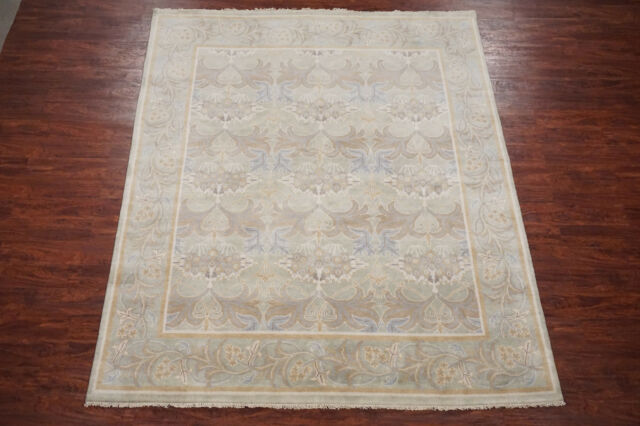 8X10 William Morris Art & Craft Area Rug Hand-Knotted Wool Oushak (7.10 x 9.9)