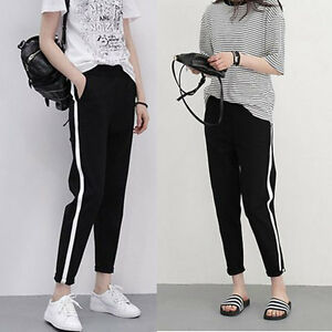 Korean Fashion Mens Womens Casual Hip Hop Jogger Track Pants Sweatpants Trousers Ebay