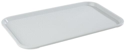 Fast Food Tablett Kellnertablett Serviertablett 35 x 27 cm grau Gastlando