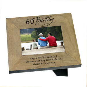 Image Is Loading 60th Birthday Present Photo Frame Him Her With