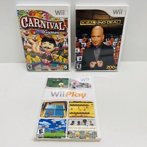 3-Game-Wii-Lot-Deal-or-No-Deal-Wii-Play-Carnival-Games-Nintendo-Wii-2009