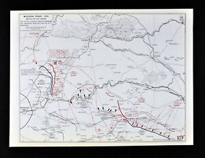 Details about West Point WWI Map Western Front Battle of Marne Sept. on battle of verdun map wwi, downloadable maps of battle wwi, allied powers map wwi, battle of tannenberg map wwi,