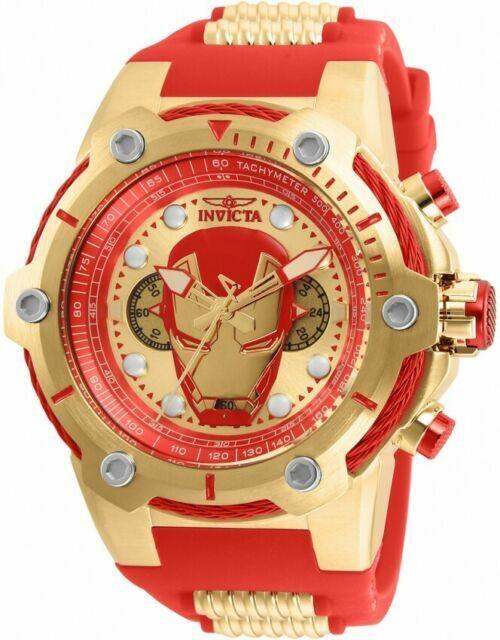 Invicta Bolt Marvel Ironman 51mm Chronograph Red/Gold Wrist