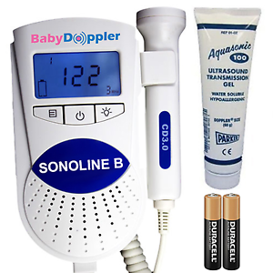 FDA Sonoline B Fetal Doppler 3MHz Probe, Baby Heart Monitor, Backlight LCD, GeL 628055787013