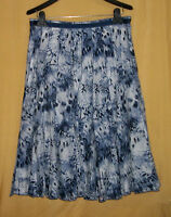 Focus Lifestyle Womens Blue Floral Multi Full Flared Pleated Top Dress Skirt $79