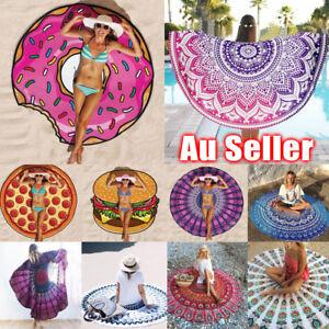 Bohemian-Mandala-Beach-Towel-Round-Tapestry-Yoga-Blanket-Bedspread-Shawl-AU