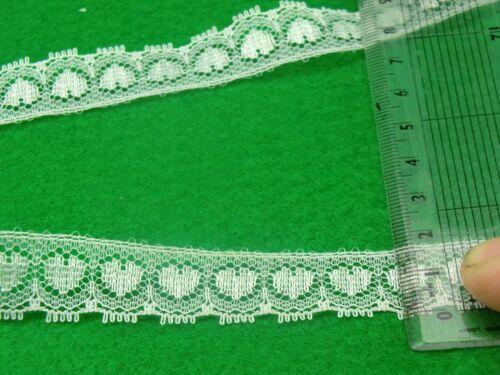 VINTAGE WHITE LACE 16 mm SCRAPBOOK,BRIDAL WEDDING SEWING RIBBON TRIMMING