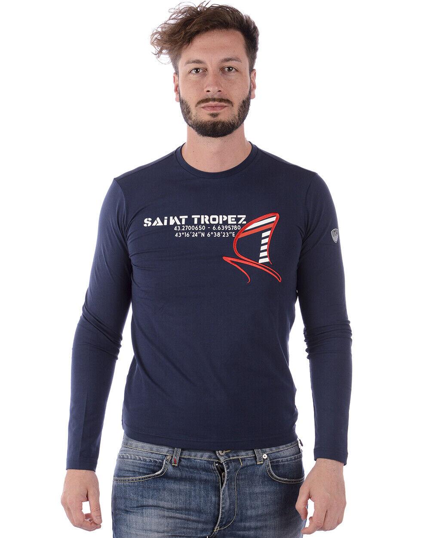 T shirt emporio armani ea7 mens Blau cotton sweatshirt 3zpt74pj20z 1554 tl. xl
