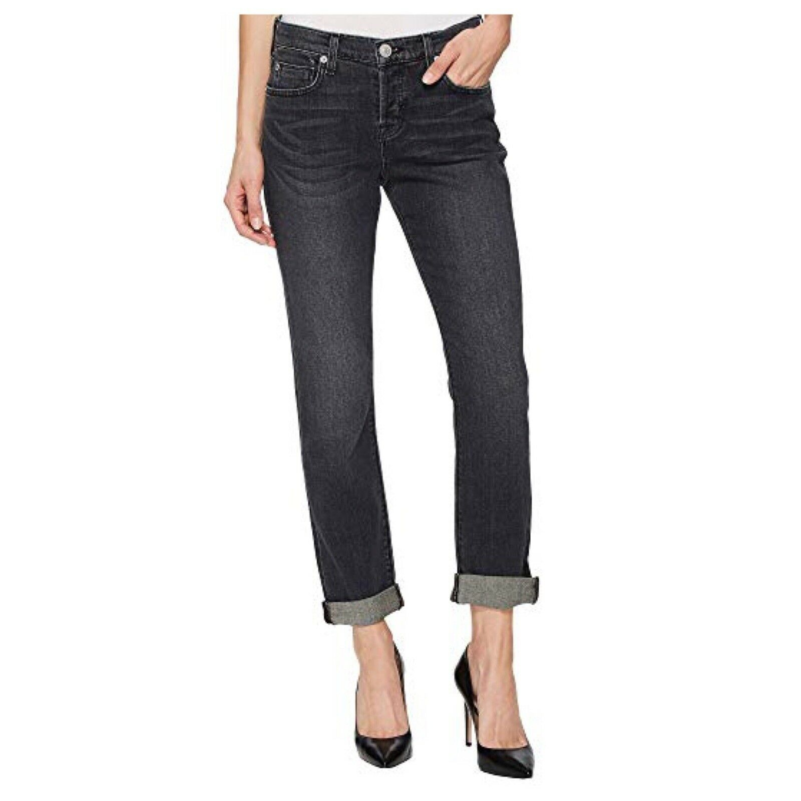 Hudson Riley Crop Relaxed Straight Jeans In Revok Wash size 28  235 NWT