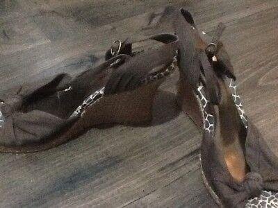 Para mujer Talla 6 Cuña Tacón Alto Con Tiras Zapatos Dorothy Perkins
