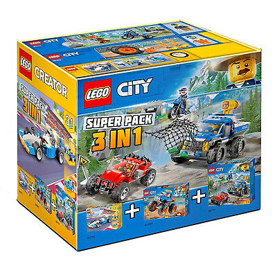 60218 Lego 66615 3 in 1 Super Pack includes sets 60180 10715