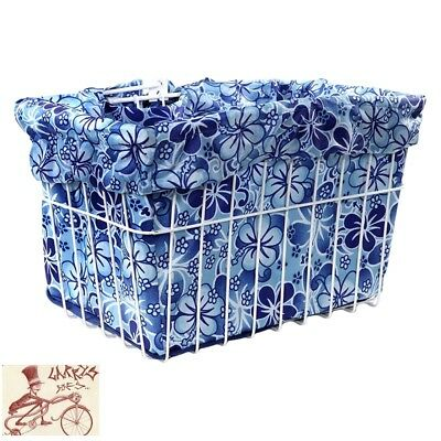 Cruiser Candy Reversible Bike Basket Liner Std Hawaiian 14 Blu