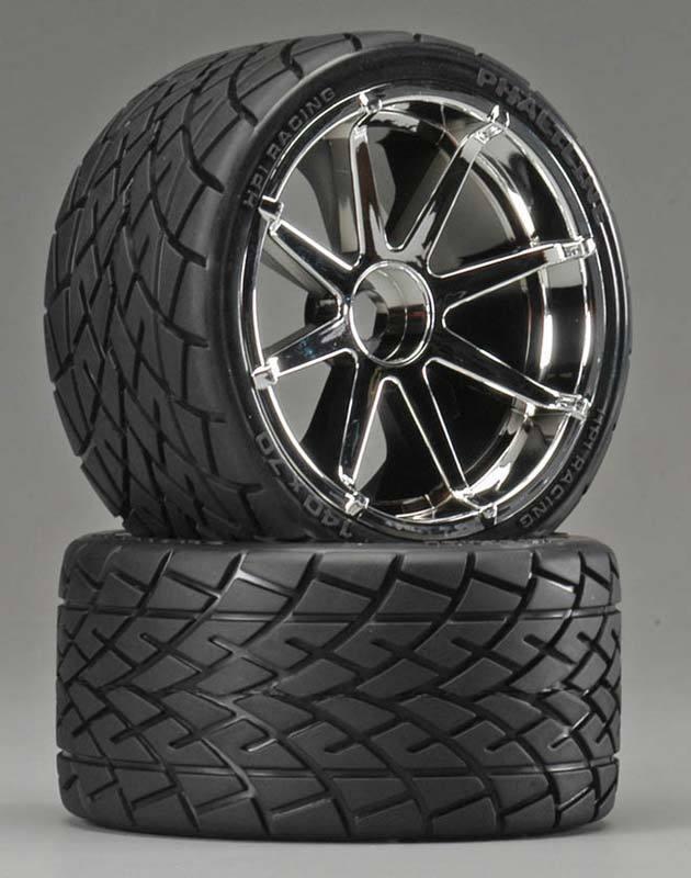 Hpi 4729 Mounted Phaltline Tires   Blast Wheel (2) Savage Revo T-Maxx 17mm Hex