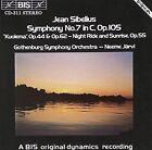 Sibelius: Symphony No. 7; Kuolema (CD, Sep-1994, BIS (Sweden))