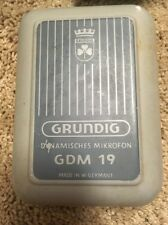 Rare Vintage Grundig Dynamisches Mikrofon (microphone) GDM 19 Made In Germany