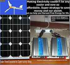 GRID TIE INVERTER PLUG AND PLAY SOLAR OR WIND or battery Bank to Grid power unit