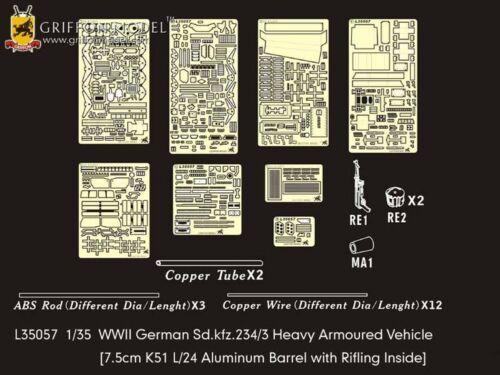 Griffon L35057 1/35 German Sd.kfz.234/3 Heavy Armoured Vehicle Detailing Set