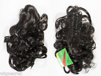 Hair Piece Claw Clip With Wavy Hair Which Is 17inches Long Clip-in-extensions