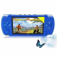 4.3 inch Screen 8G 32 Bit Portable 1000+ Retro Games Handheld Game Console Blue
