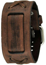 Nemesis Faded Brown X Genuine Leather Watch Cuff  Vintage Style BFXB  20mm