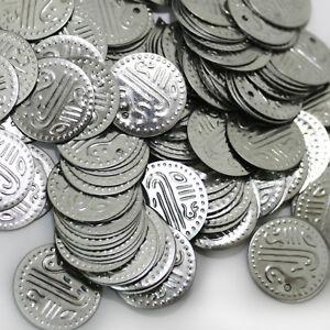 Münzen Silber Bastelmünzen Bauchtanz Deko Basteln Perlen Metall