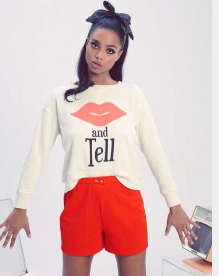 NWT Wildfox Couture Kiss And Tell Sloan Sweater Jumper Sweatshirt XS