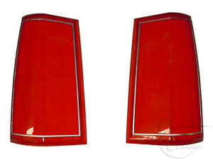 1985-1989-Lincoln-Town-Car-Tail-Light-Lens-SET-E5VY13451A-E5VY13450A-NEW