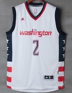 huge discount 28fea 895a3 Details about Washington Wizards John Wall #2 white jersey all size